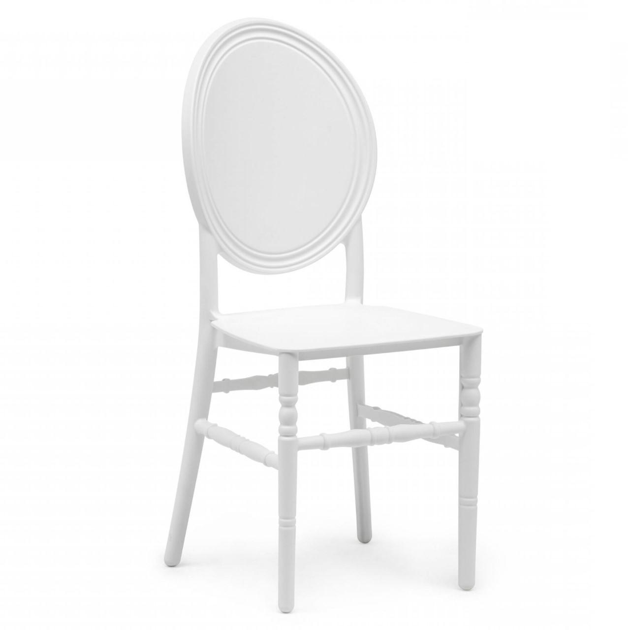 Chaise medaillon blanche