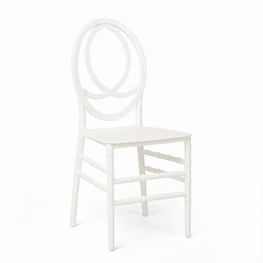 Chaise medaillon stylisee