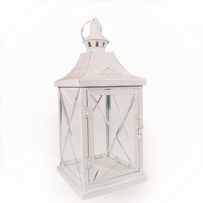 Lanterne metal blanc 1