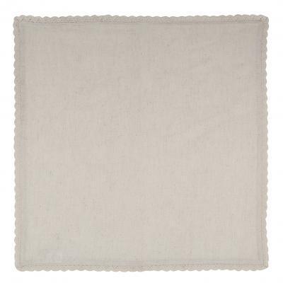 Serviette en lin et coton de 51 x 51 cm